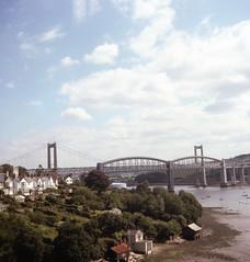 LLANGOLLEN AREA, BRIGHTON aug 1977 (foundin_a_attic) Tags: llangollenarea brightonaug1977 saltash cornwall royalalbertbridge tamarbridge rivertamar