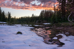 Roll on Columbia (Tom Fenske Photography) Tags: shale sunset snow ice mountain landscape trees reflection wet water clouds melting pct