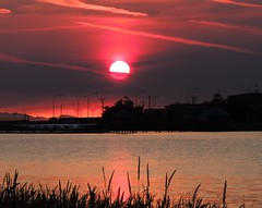 Cool Sunset (How.I.E) Tags: river water cloud clouds color colorful orange red pink blue black tide out amazing awesome beautiful sweet cool kool gnarly best nice dusk night evening twilight prism rainbow canada bc winter wow wild great excellent gulf estuary sanctuary all terrific sky fabulous ultimate super grand perfect top notch finest grain white beige paradise heaven slice charming remote tranquil rock pinnacle beach coast waves ebb reflection mirror glass glassy shine shiny sunshine bay spots romantic