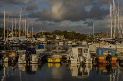 Evening in the Viken marina (frankmh) Tags: marina landscape boat evening sky viken skåne sweden outdoor