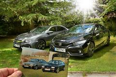 Like Father, like Son (PentlandPirate of the North) Tags: hondacivic 2017 prestige sportplus 15 cars likefatherlikeson alfaromeoalfasudspintvelocespeciale forseti
