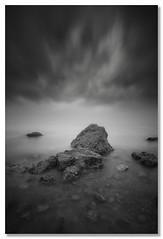 Little pieces of land (João Cruz Santos) Tags: longexposure seascape blackandwhite bw ginjal olhodeboi portugal almada fotodiox wonderpana nd1000 10stops cpl polarizer