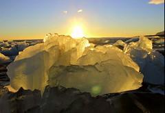 diamond beach (srouve78) Tags: sunset sun iceland beach ice