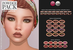 Powder Pack Catwa July Edition (Izzie Button (Izzie's)) Tags: powderpack catwa appliers makeup eyes sl eyeshadows lipstick izzies