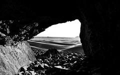 Sea Cave (Seaux Photography) Tags: blackandwhite beach cave pacific ocean oregon coast bw landscape