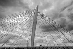 Prins Clausbrug, Utrecht (SkyBlue Photography Pro) Tags: architectuur architecture bandw blackandwhite monochrome black white bridge bw utrecht brug papendorp kanaleneiland netherlands clouds sky