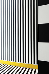 IMG_3080 (Kathi Huidobro) Tags: stripes abstract patterns architecture artinstallation walalaxplay camillewalala blackwhite yellow memphis interactiveart london londonart yellowstripe contrast urbanart nowgallery