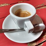 white espresso cup on red table thumbnail