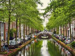 Delft, Netherlands (Sally E J Hunter) Tags: delft netherlands paysbas holland canal oudedelft spring