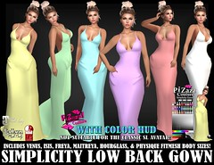 SIMPLICITY LOW BACK GOWN PIC (brajeet.resident) Tags: secondlife pizazz pzc womens fitmesh fashion apparel gown formalgown dress simplicity belleza venus isis freya perky natural pushup maitreya slink physique hourglass