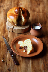 Orange Brioche with Chocolate&Hazelnut Filling (Мiuda) Tags: brioche baking bake baked bakery sweet sweetbaking bakingsweet food foodphotography foodphoto stilllife canon delicious homemade rustic french cuisine traditional briocheatete nutella chocolate filling orange tasty sugar dessert brown wooden board background table