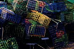 Artes de Pesca (ameliapardo) Tags: artesdepesca nasas pescadores cestascolores verde azul amarillo puerto fujixt1