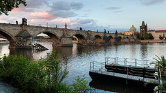 Prague (Peter Nyström photography) Tags: prag prague praga czechrepublic cz charlesbridge vltava evening summer 2017 karluvmost bridge river