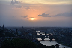 Firenze  - tramonto sull'Arno (PierBia) Tags: florence sunset over arno firenze toscana nikon d810 tuscany italy