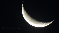 Wednesday's Waning Crescent (macprohawaii) Tags: diamondhead honolulu hawaii fujifinepixhs10 moon