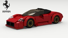 Ferrari P4/5 Pininfarina (Tom.Netherton1) Tags: ferrari daytona spyder convertible italian italy classic vintage v12 speed speedster sport sports car cars red lego legos ldd digital designer city pov povray dropbox download lxf indoor vehicle testarossa 1980s 1990s miami vice super supercar race racer racing road 2006 james glickenhaus pininfarina enzo