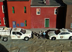 Sheriff's log 7/26/2017 (THE RANGE PRODUCTIONS) Tags: greenlight fordf150 dodgechargerpursuit diecast dioramas diecastdioramas 164scale hoscalefigures model toy modular