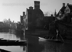 Cambridge Magdalene College Punt (Dave Butcher Photography) Tags: davebutcher davidbutcher blackandwhite photograph fineartphotography cambridge river boat magdalene university cambridgeshire england