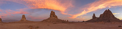 More Fire In the Sky At the Trona Pinnacles (slworking2) Tags: california unitedstates us trona ridgecrest desert pinnacles geology sunset sky colorful clouds tronapinnacles