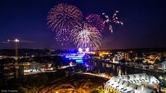 Fireworks Belgium -Fête Nationale (YᗩSᗰIᘉᗴ HᗴᘉS +7 000 000 thx❀) Tags: firework fireworks 21juillet2017 fêtenationale feu feudartifice belgium belgique hensyasmine night bridge