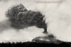 Mount Mayon in eruption on July 21, 1928, Philippines (J. Tewell) Tags: mayonvolcano oldbicolregion oldsoutheastluzon oldphilippines