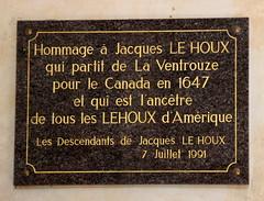 La Ventrouze - Jacques Le Houx (Philippe Aubry) Tags: normandie perche orne nouvellefrance québec canada mémorial laventrouze jacqueslehoux plaque