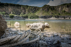 Bosherston Quarry (garethleethomas) Tags: quarry landscape rope water beautiful wales uk greatbritain sunny summer