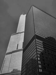 Chicago, Illinois (duaneschermerhorn) Tags: architecture building skyscraper structure highrise architect modern contemporary modernarchitecture contemporaryarchitecture chicago illinois unitedstates usa black white blackandwhite blackwhite bw noire noir blanc blanco schwartz weiss