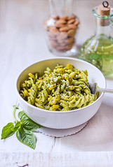 Creamy Corn Basil Pesto Pasta... (Chandrima Sarkar) Tags: italian pesto pasta basil food depthoffield foodstyling foodphotography stilllife white