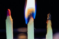 Past - Present - Future (M_Theory) Tags: macromondays macro three matches fire 3