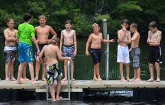 TSC 072817 397 (Tolland Recreation) Tags: boys girls kids children youth tweens summer camp fun games activities sports dodgeball athletes athletics swimming sand sun lake pond exercise running throwing tolland connecticut jumping diving raft beach