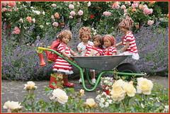 Gartenkinder ... (Kindergartenkinder) Tags: seppenrade sanrike tivi rosengarten blumen personen kindergartenkinder garten blume park frühling annette himstedt dolls milina annemoni jinka