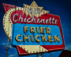 Al's (Pete Zarria) Tags: kansas chicken eat restaurant neon sign urbn color small town city