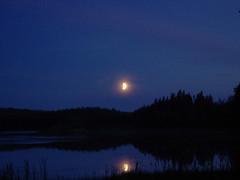 Kesäyö I (Jorma_M) Tags: moon kuutamo lake järvimaisema