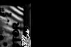 Who Are You  !!!!! (imagejoe) Tags: vegas nevada street strip black white photography photos shadows reflections people nikon
