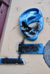 Urbansolid (emilyD98) Tags: street art insolite rue mur wall urban exploration paris collage moulage oreille ear zone sur écoute solid urbansolid 75005 5 ème 5ème city ville installation