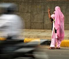 Street sweeper (bokage) Tags: india bokage newdelhi delhi woman sweeper street dress