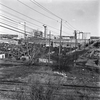 scrap metal, power lines, mill