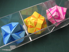 Origami, Sonobe variations (Masaya2012) Tags: sonobe modular kusudama sonobevariation 折り紙 modularorigami 薗部 くす玉 模様 ユニット