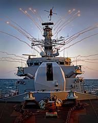 FG130010 (Buxtonwolf) Tags: lynxmk8sru flares firing surfaceship type23frigate gulf monmouth peregrine13 portsmouth hampshire