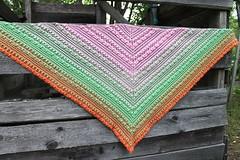 2017.07.31. lost in time shawl 3215m (villanne123) Tags: 2017 crochet shawl wrap cotton souffleyarn lostintimeshawl villanne virkattua virkattu virkattuhuivi