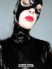 Latex Collar - CharmOlatex (CharmOLatex - LW) Tags: latex rubber fetish collar gothique gothic france charmolatex etsy laura wayland ts tv crossdress tgirl trans tranny doll