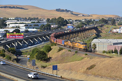That's a military train....and a Weed billboard (CN Southwell) Tags: up union pacific martinez sub calp