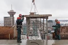 Vancouver BC - Exchange Tower (10) (doublevision_photography) Tags: vancouver vancouvercity vancouverrealestate vancouverbc vancouverskyline vancity vancouvercanada jasocrane constructioncrane vancouverconstruction roofing vancouverroofing contruction towercranephotography flyingtables tableflying