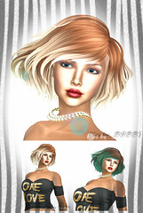 collage 2 One Love (Poppys_Second_Life) Tags: popi popikone popikonesadventuresin2l popisadventuresin2l 2l secondlife virtualphotography poppy picsbyⓟⓞⓟⓟⓨ sl portraiture portrait hair fashion