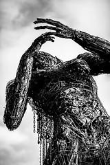 Take your Time, Hurry Up (Thomas Hawk) Tags: america bayarea burningman california eastbay karencusolito oakland usa unitedstates unitedstatesofamerica westcoast bw sculpture fav10 fav25 fav50 fav100