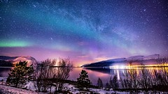 Arctic circle (talv_ss) Tags: tromso skibotn norway northernlights auroraborealis arctic arcticcircle nightphotography night longexposure stars milkyway lakes reflections nightsky nikon d610 travelphotography travel