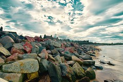 Fittie Beach Footdee  - Aberdeen Scotland 29/7/17 (DanoAberdeen) Tags: landscape 2017 recent scottishhighlands grampian scotland esplanade scenery beachboulevard danoaberdeen nikond750 bluesky clouds aberdeencity aberdeenscotland aberdeen breakwater tide plage playa aberdeenbeach footdee fittie candid amateur nikon aberdeenshire northsea cirrus nimbus autumn winter summer spring psv wss cargoships platformsupplyships northseasupplyships north sea supply vesselsship spottersship spottingworld wide ship spottersuk spotting workboats seafarers tarrysheds danophotography abdn cloudporn fitdee fishing fish 2018 harbour aberdeenharbour fishingvillage trawlers olddays historicscotland hiddenscotland scotch history preservation conservation oldaberdeen