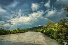 Rainbow (Danijel Jovanovic Photography) Tags: rainbow innsbruck inn river weather nature landscape colors tyrol tirol austria sony alpha 99ii riverside