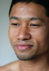 Mell #17 (just.Luc) Tags: man male homme hombre uomo asian burmese young jong jung jeune stubble face gezicht visage ritratto retrato portret portrait smile sourire glimlach gay